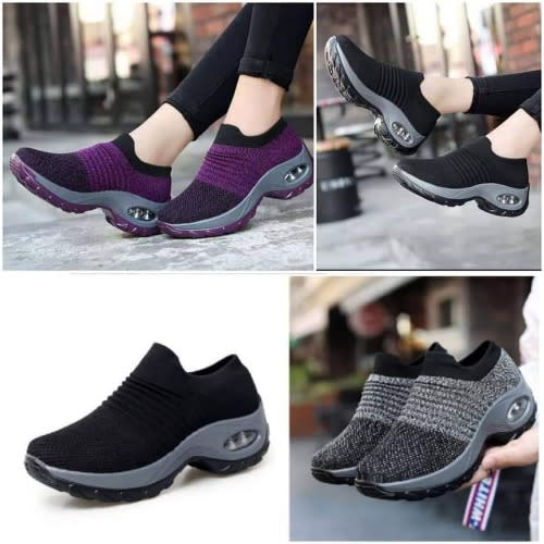Woman Sneakers- Black With Purple