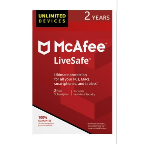 Livesafe 2019 Antivirus - Unlimited Devices, 2 Years Subscription