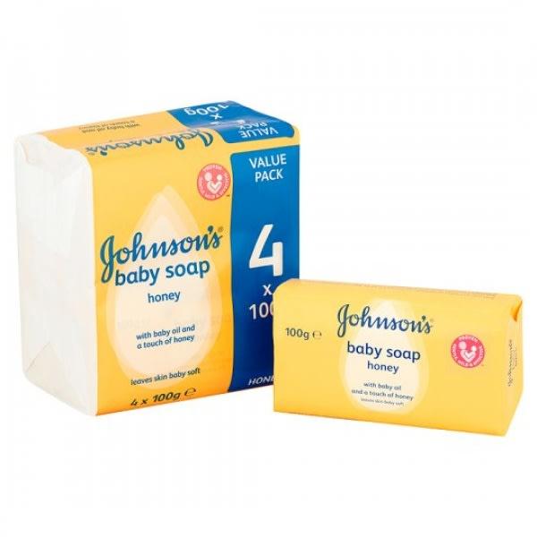 Johnson's Baby Soap - Honey - 4 x 100g | Konga Online Shopping