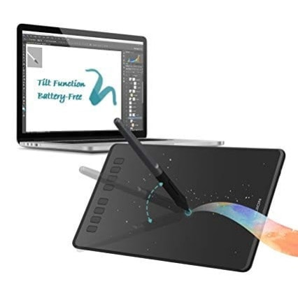 HUION H1060P Graphic Drawing Tablet Battery free Stylus Tilt Support Digital