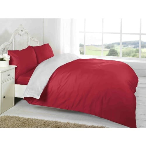 Plain Red And White Duvet Cover With 2 Pillow Cases Konga Online
