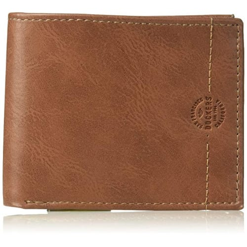 Men's Rfid Security Blocking Passcase Wallet-tan