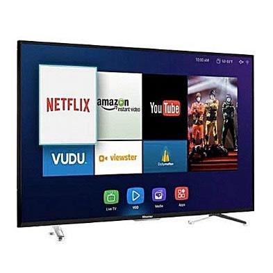 Hisense 65'' Smart UHD 4k Satellite Television + Free Wall