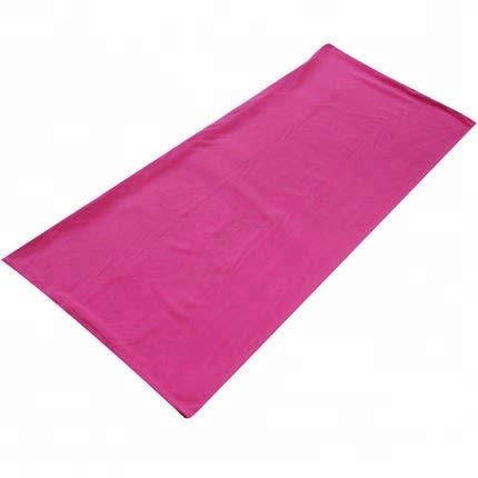 Fleece Sleeping Bag For Camping Hiking Travel - Pink