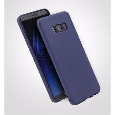 the latest 41c96 fa0a4 Candy Color TPU Silicone Rubber Full Case For Samsung Galaxy S8-Dark Blue