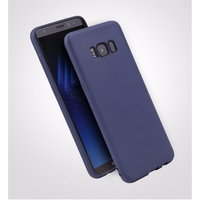 huge discount aca28 30690 Candy Color TPU Silicone Rubber Full Case For Samsung Galaxy S8 Plus -Dark  Blue