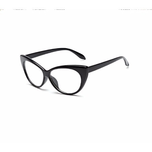 4afb7e898a1 Fashion Bug Cat Eye Plain Lens Glasses - Black