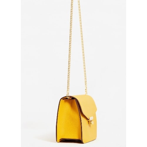 4390f6f4ed8f9 Mango Chain Crossbody Bag -Yellow | Konga Online Shopping