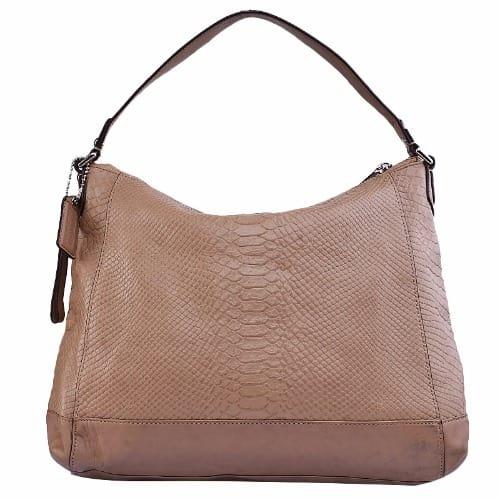 4d5c2cdb0b Coach Charlie Python Leather Hobo Tote Shoulder Handbag