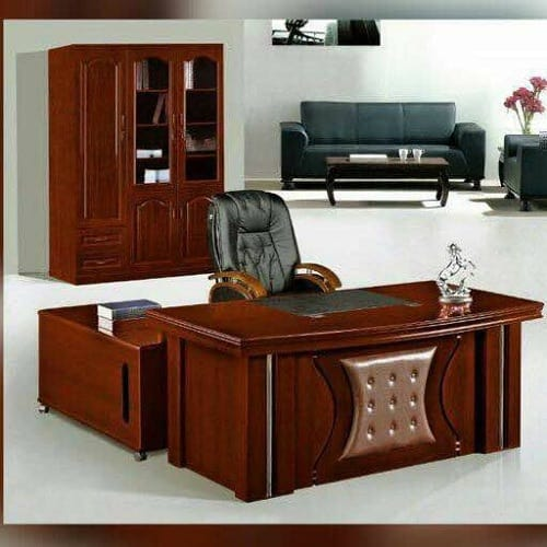 Chief Executive Table With Manager Chair U0026 Bookshelf
