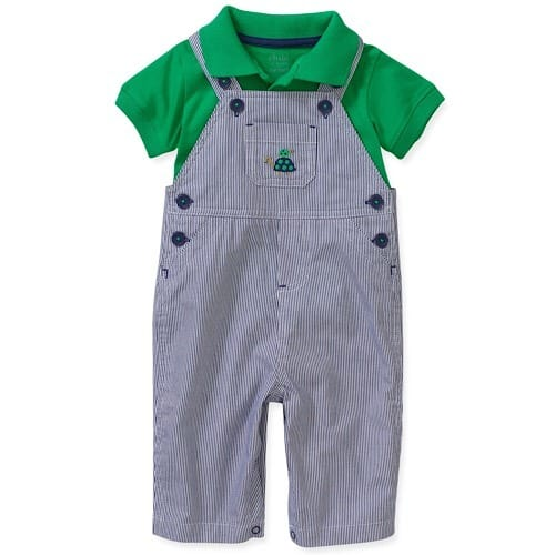 Child of Mine by Carter/'s Top Polo Shirt /& Shorts 2 piece set Baby Boy 0-3 Month