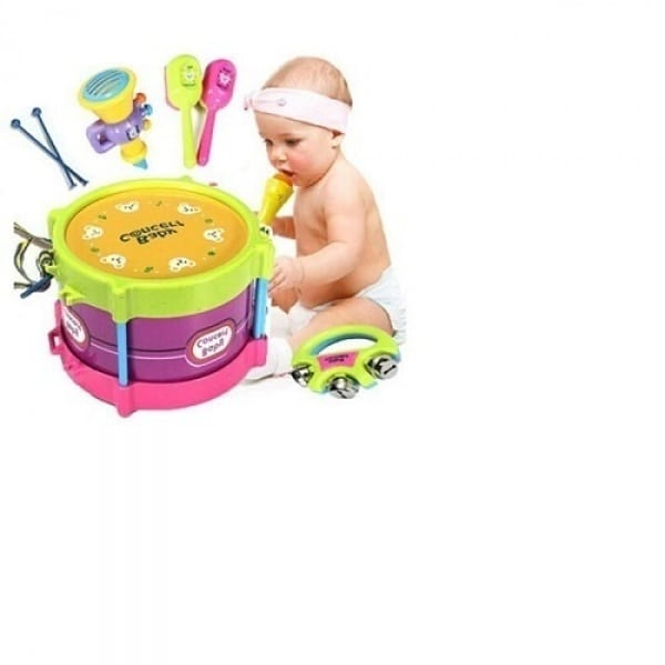 Childrens 5 Piece Toy Drum Set Konga Online Shopping