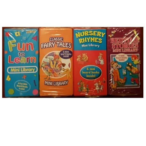 Children's Mini Library - 6 Mini Books - Set of 4