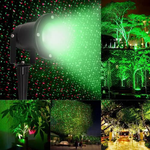 Christmas Red Green Lawn Laser Light Projector