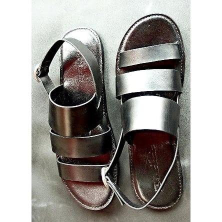 c8eeb2fad9d9 Classic Men s Triple Strap Simple Italian Leather Sandal -Black ...