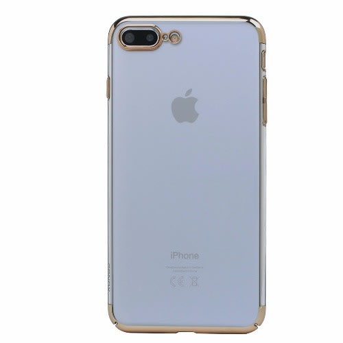 check out 75a1f 9deb3 Clear Back Protective Back Case for iPhone 8 Plus - Gold