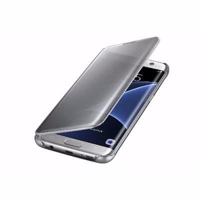 pretty nice 85c43 e775c Clear View Flip Case for Samsung Galaxy S7 Edge - Transparent Silver