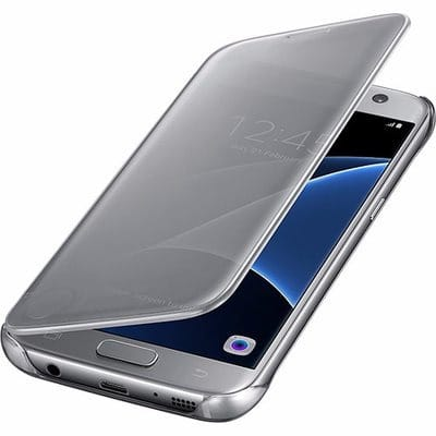 new concept 13af6 70a5b Clear View Flip Cover with Sensor for Samsung Galaxy S7 Edge - Silver