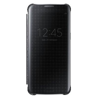 the latest af375 72e17 Clear-View Flip Cover with Sensor for Samsung Galaxy S7 edge -Black