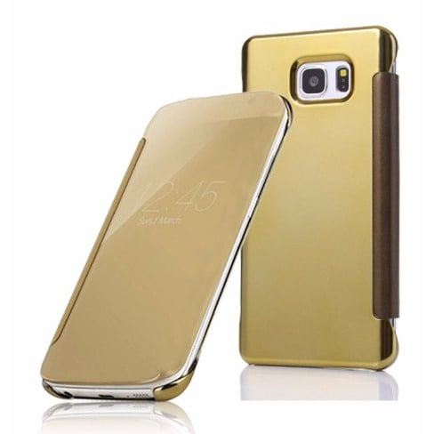 big sale c76d8 6a9e3 Clear View Smart Flip Case For Samsung Galaxy S7 Edge - Gold | Konga ...