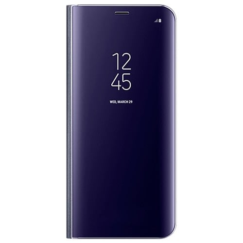 big sale c0674 81f12 Clear View Standing Cover with Optimized Viewing Angle for Galaxy S8 -Violet