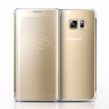 promo code 80e6d c1516 Clear View cover for Samsung Galaxy S7 Edge - Gold