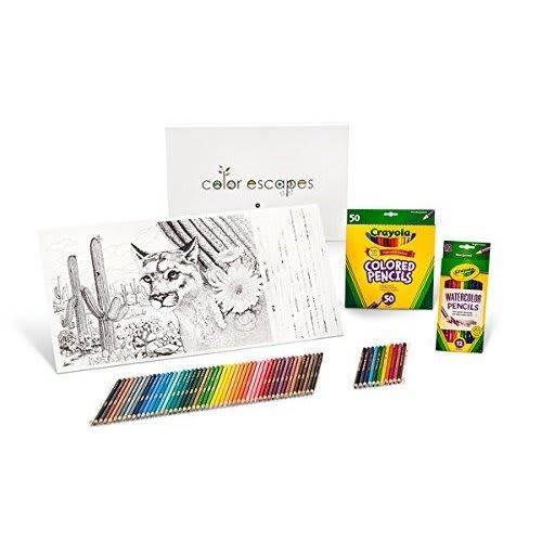 Crayola Color Escapes Coloring Pages & Pencil Kit, National Parks ...
