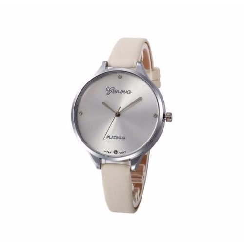 1cced8540 Geneva Cream Platinum Thin Leather Watch   Konga Online Shopping