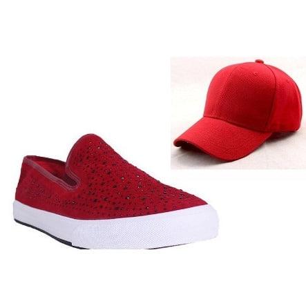 /C/r/Crystal-Slip-On-Suede-Sneakers---Red-Free-Baseball-Cap---Red-5988180_4.jpg
