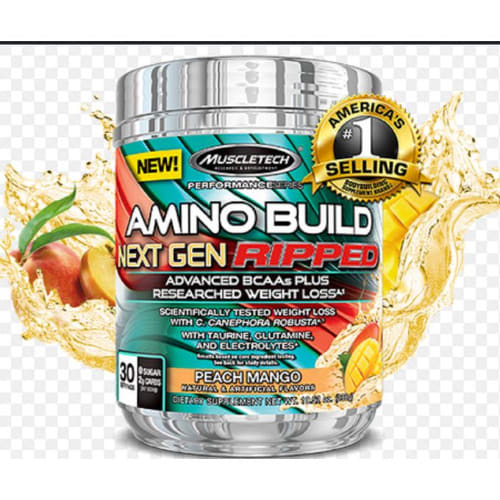 Muscle Tech Amino Build Next Gen Ripped,30 Servings Bcaas + Weight Loss.
