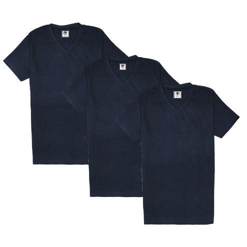 3ca57057 Priddi Pack Of 3 V-neck T-shirts - Navy Blue | Konga Online Shopping