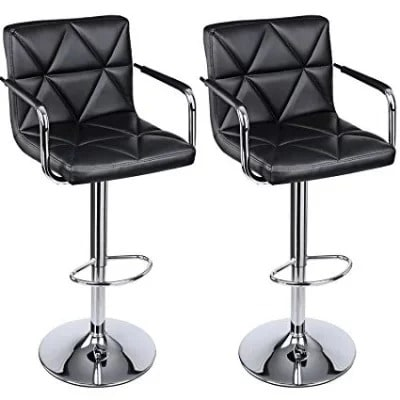 Adjustable Bar Stools With Arm And Back Leather Swivel Bar Stool