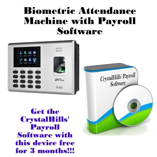 Biometric Electronic Time Attendance Register Machine with