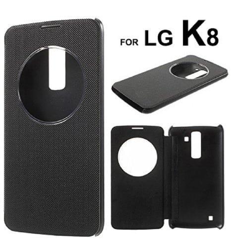 outlet store sale 6bb5d d1a11 LG K8 2017 Smart Flip Case Black