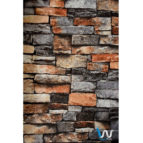 Mix Colour 3d Brick Wallpaper