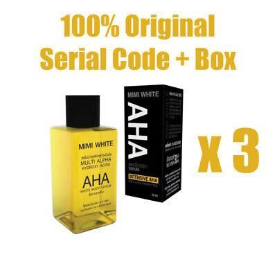 Mimi White Aha Body White Serum - 3 Packs - 30ml Each