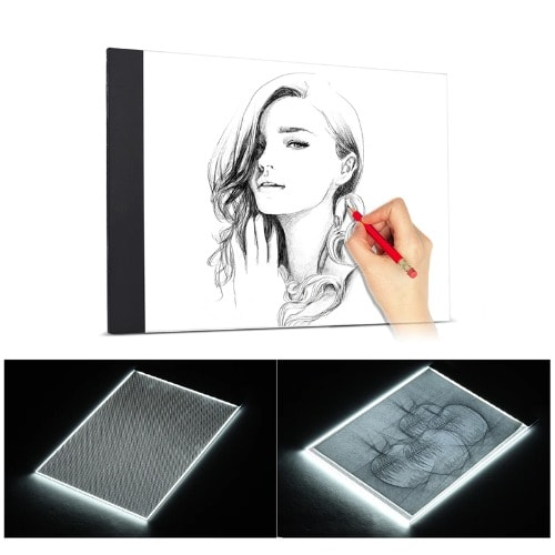 A4 Led Digital Graphic Drawing Tablet, Thin Tracing Pad For Painting, Drawing
