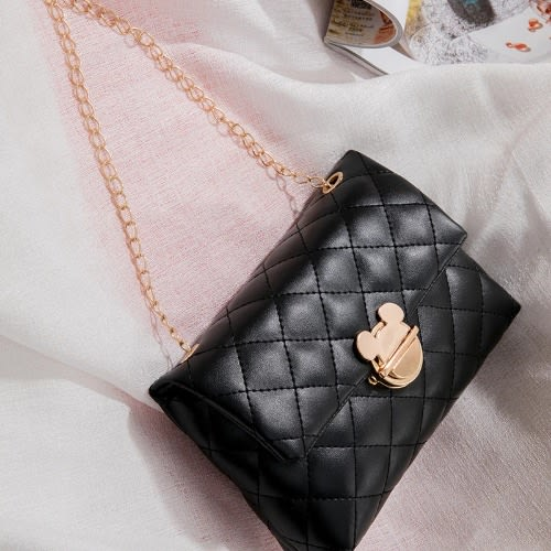 Women's Mini Cross Shoulder Bags - Black.