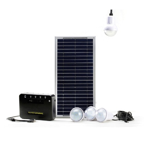 Off-grid Solar Lighting System With 4pcs X 2w Bright Led Lights