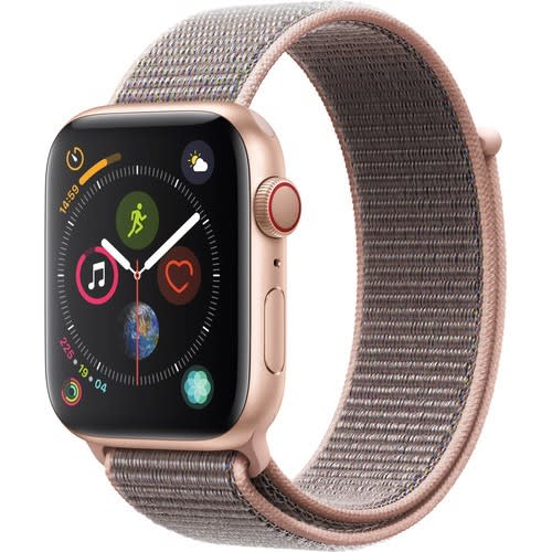 Watch Series 4 - Gps + Cellular 44mm, Gold Aluminum, Pink Sand Sport Loop - Mtv12ll/a