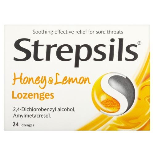 Strepsils Honey & Lemon - 24 Lozenges.
