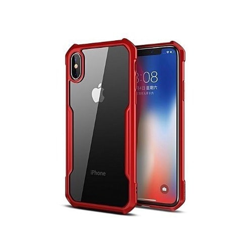 buy online 82909 d1cfd iPhone X Max 6.5 Defender Back Case - Red