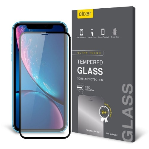 info for 3cbfd 1f738 Full Cover Tempered Glass Screen Protector For iPhone XR - Black