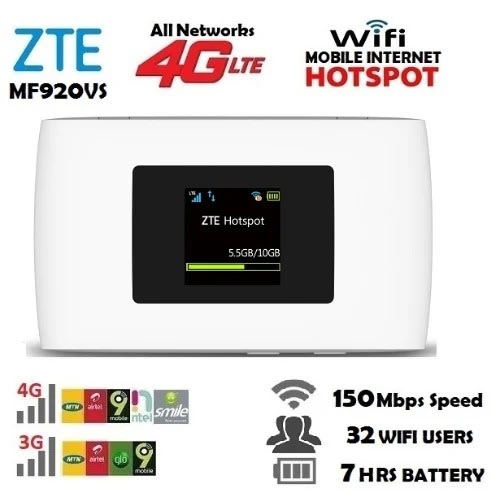 Mf920vs 4G LTE Mobile Internet Mifi