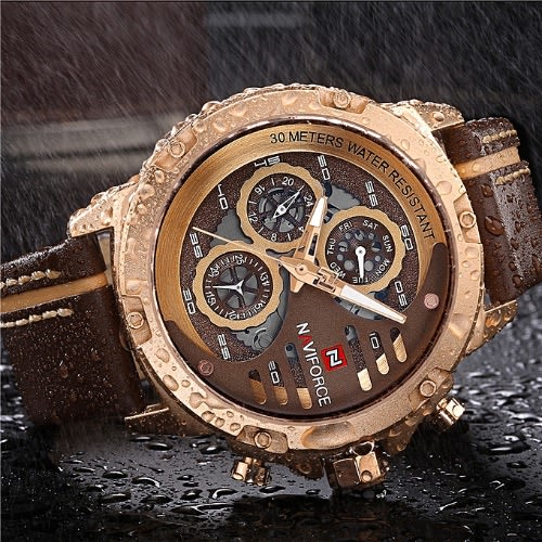 Navy Force Luxury Waterproof Wrist Watch