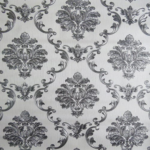 Damask Wallpaper White And Black