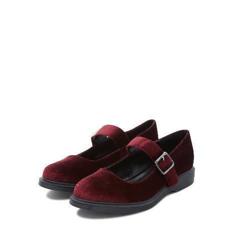 baab9203c17 Dark Red Velvet Ankle Strap Pumps