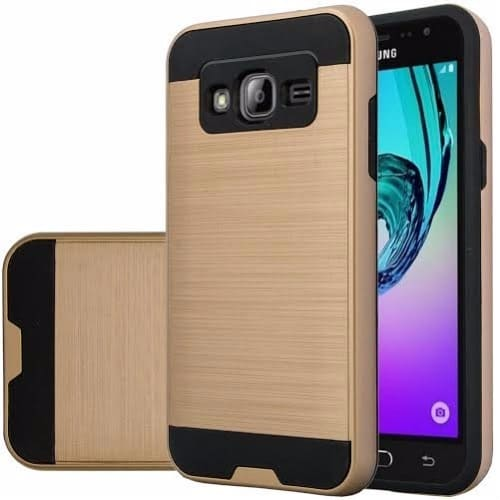 info for 0aa12 5f3a4 Defender Back Case for Samsung Galaxy Grand Prime & Grand Prime Plus - Gold