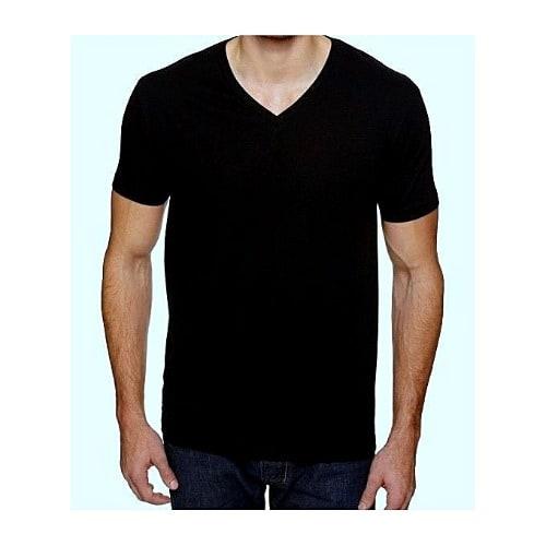 d501179dd255 V Neck Cotton T-shirt For Men - Black | Konga Online Shopping