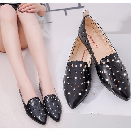 Black Ladies Flat Shoe